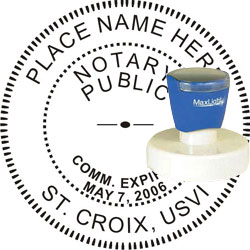 Notary Seal - Pre-Inked Stamp - Virgin Islands