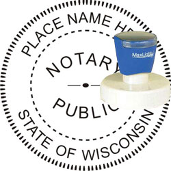 Notary Seal - Pre-Inked Stamp - Wisconsin