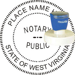 Notary Seal - Pre-Inked Stamp - West Virginia