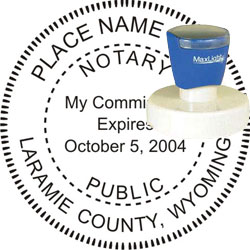 Notary Seal - Pre-Inked Stamp - Wyoming