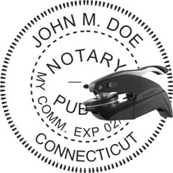 Notary Seal - Pocket Style - Connecticut