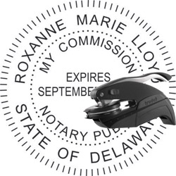 Notary Seal - Pocket Style - Delaware