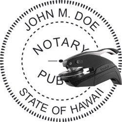 Notary Seal - Pocket Style - Hawaii