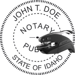 Notary Seal - Pocket Style - Idaho
