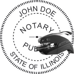 Notary Seal - Pocket Style - Illinois
