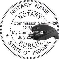 Notary Seal - Pocket Style - Indiana