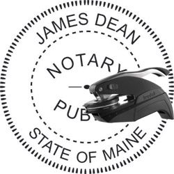 Notary Seal - Pocket Style - Maine