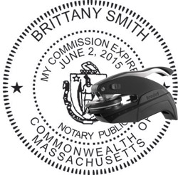 Notary Seal - Pocket Style - Massachusetts