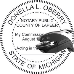 Notary Seal - Pocket Style - Michigan