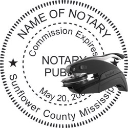 Notary Seal - Pocket Style - Mississippi