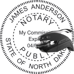 Notary Seal - Pocket Style - North Dakota