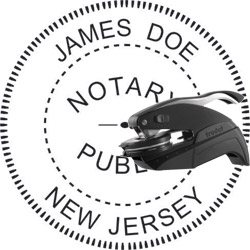 Notary Seal - Pocket Style - New Jersey
