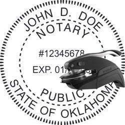 Notary Seal Pocket Style Oklahoma