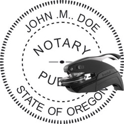 Notary Seal - Pocket Style - Oregon
