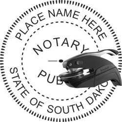 Notary Seal - Pocket Style - South Dakota