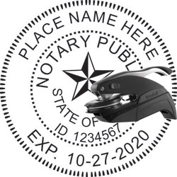 Notary Seal - Pocket Style - Texas