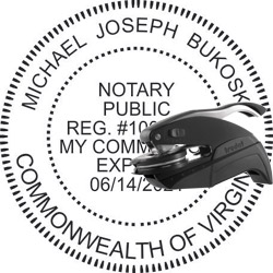 Notary Seal - Pocket Style - Virginia