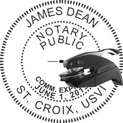 Notary Seal - Pocket Style - Virgin Islands