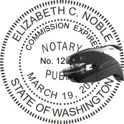 Notary Seal - Pocket Style - Washington