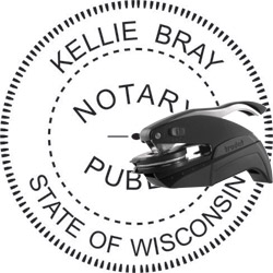 Notary Seal - Pocket Style - Wisconsin