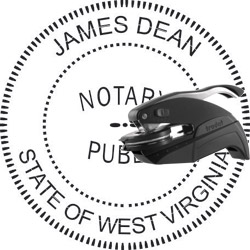 Notary Seal - Pocket Style - West Virginia