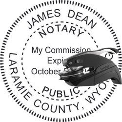 Notary Seal - Pocket Style - Wyoming