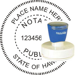 Notary Seal - Pre-Inked Stamp - Hawaii