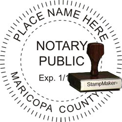 Notary Seal - Wood Stamp - Arizona