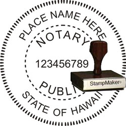 Notary Seal - Wood Stamp - Hawaii