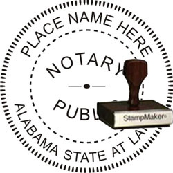 Notary Seal - Wood Stamp - Alabama