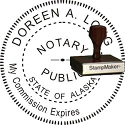 Notary Seal - Wood Stamp - Alaska