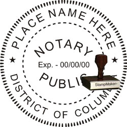Notary Seal - Wood Stamp - Dist of Columbia