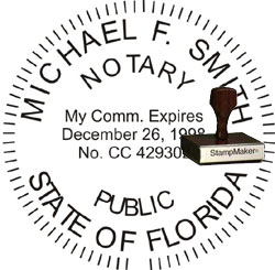 Notary Seal - Wood Stamp - Florida