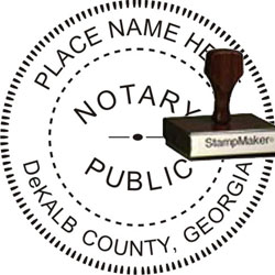 Notary Seal - Wood Stamp - Georgia