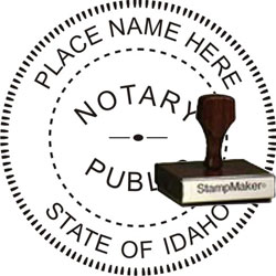 Notary Seal - Wood Stamp - Idaho