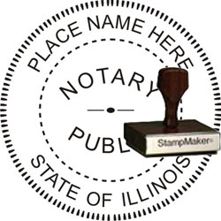Notary Seal - Wood Stamp - Illinois