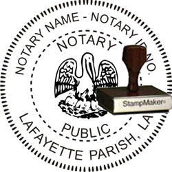 Notary Seal - Wood Stamp - Louisiana