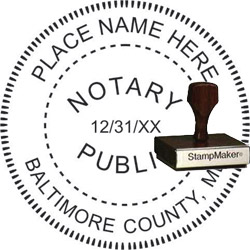 Notary Seal - Wood Stamp - Maryland