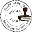 Notary Seal - Wood Stamp - Maryland NOTARY_SEAL_MARYLAND_WOOD_STAMP