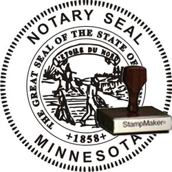 Notary Seal - Wood Stamp - Minnesota