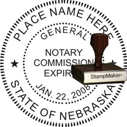 Notary Seal - Wood Stamp - Nebraska