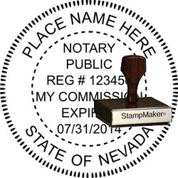 Notary Seal - Wood Stamp - Nevada