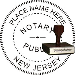 Notary Seal - Wood Stamp - New Jersey