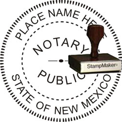 Notary Seal - Wood Stamp - New Mexico