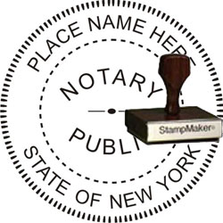 Notary Seal - Wood Stamp - New York