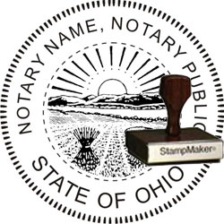 Notary Seal - Wood Stamp - Ohio