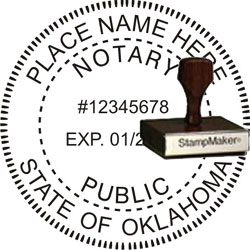 Notary Seal - Wood Stamp - Oklahoma