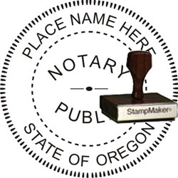 Notary Seal - Wood Stamp - Oregon