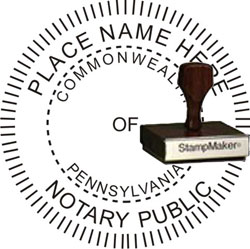 Notary Seal - Wood Stamp - Pennsylvania