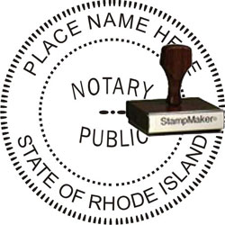 Notary Seal - Wood Stamp - Rhode Island